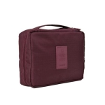 2 PCS Convenient Travel Cosmetic Makeup Toiletry Case Wash Organizer Storage Pouch Bag(Wine red)