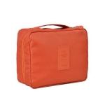 2 PCS Convenient Travel Cosmetic Makeup Toiletry Case Wash Organizer Storage Pouch Bag(Orange)
