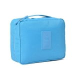 2 PCS Convenient Travel Cosmetic Makeup Toiletry Case Wash Organizer Storage Pouch Bag(Sky blue)