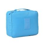 2 PCS Convenient Travel Cosmetic Makeup Toiletry Case Wash Organizer Storage Pouch Bag(Sky blue)