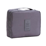 2 PCS Convenient Travel Cosmetic Makeup Toiletry Case Wash Organizer Storage Pouch Bag(Gray)