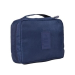 2 PCS Convenient Travel Cosmetic Makeup Toiletry Case Wash Organizer Storage Pouch Bag(Dark blue)
