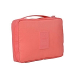 2 PCS Convenient Travel Cosmetic Makeup Toiletry Case Wash Organizer Storage Pouch Bag(Watermelon red)