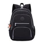 Backpacks School Backpack for Teenage Girls Female Laptop Bagpack Travel Bag, Size:27X13X37cm(Black)