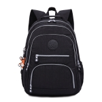 Backpacks School Backpack for Teenage Girls Female Laptop Bagpack Travel Bag, Size:31X14X42cm(Black)
