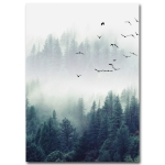 2 PCS Living Room Home Nordic Decoration Forest Landscape Wall Art Poster, Size (Inch):20x30cm canvas(Picture 2)