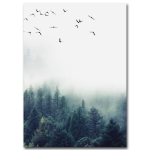 2 PCS Living Room Home Nordic Decoration Forest Landscape Wall Art Poster, Size (Inch):20x30cm canvas(Picture 3)