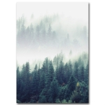 2 PCS Living Room Home Nordic Decoration Forest Landscape Wall Art Poster, Size (Inch):30x40cm canvas(Picture 1)