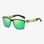 Polarized Sunglasses Men Outdoor Driving Vintage Square Shades Lens Sun Glasses(NO6)