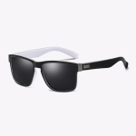 Polarized Sunglasses Men Outdoor Driving Vintage Square Shades Lens Sun Glasses(NO8)
