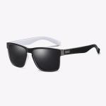 Polarized Sunglasses Men Outdoor Driving Vintage Square Shades Lens Sun Glasses(NO8)