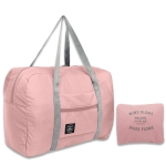2 PCS Large Capacity Fashion Travel Bag Carry on Luggage Bags(Pink)