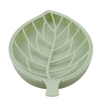 2 PCS Leaf Shape Double-deck Soap Box Shower Tray Hiking Bath House Container Holder(green)