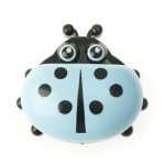 Colorful Cute Cartoon Ladybug Plastic Travel Soap Dish Box With Corver(Blue)
