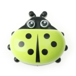 Colorful Cute Cartoon Ladybug Plastic Travel Soap Dish Box With Corver(Green)