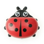 Colorful Cute Cartoon Ladybug Plastic Travel Soap Dish Box With Corver(Red)