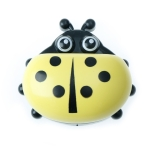 Colorful Cute Cartoon Ladybug Plastic Travel Soap Dish Box With Corver(YELLOW)