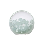 Multi-functional Sucker Soap Dish Bathroom Kitchen Wall-mounted Drain Suction Cup Hollow Soap Shelf Holder(Green )