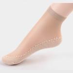 10 Pairs Velvet Silk Womens Socks Cotton Bottom Soft Non Slip Sole Massage Wicking Slip-resistant Sock(Skin Color)