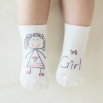 3 Pairs Newborn Socks Cartoon 100% Cotton Baby Socks, Size:10-12CM(Girl)