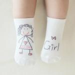 3 Pairs Newborn Socks Cartoon 100% Cotton Baby Socks, Size:12-14CM(Girl)