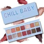 3 PCS 14 Color Nude Shining Eyeshadow Palette Waterproof Smoky Eye Shadow Pallete Matt Powder Cosmetics(Sky blue)