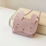 Girls PU Coin Purse Bag Wallet Kids Rabbit One Shoulder Bag Small Coin Purse(Pink)