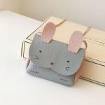 Girls PU Coin Purse Bag Wallet Kids Rabbit One Shoulder Bag Small Coin Purse(Grey)