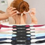 2 PCS Hair Curls Bun Head Band Hair Maker Silk Ribbon Bowknot Hairband Small Size(Black)
