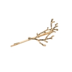 3 PCS Vintage Tree Branch Hair Clips Girls Alloy Hairpins, Length: 7.8 cm(Gold)