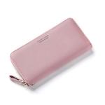 Women Long Clutch Wallet Large Capacity Wallets Female Purse Phone Pocket Card Holder(Pink)
