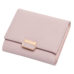 Luxury Wallet Female Leather Women Leather Purse Plaid Wallet Ladies Hot Change Card Holder Coin Small Purses for Girls(Pink)