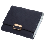 Luxury Wallet Female Leather Women Leather Purse Plaid Wallet Ladies Hot Change Card Holder Coin Small Purses for Girls(Royal blue)