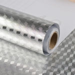 Kitchen Wall Stove Aluminum Foil Oil-proof Stickers Anti-fouling High-temperature Self-adhesive Croppable Wallpaper Wall Sticker, Size:60cmx5m(Mirror Tinfoil)