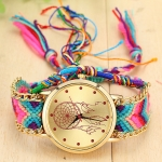 177 Ethnic Style Hand-woven Multi-color Belt Watch(No. 1 color dream catcher (with hand strap))