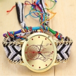 177 Ethnic Style Hand-woven Multi-color Belt Watch(7th color dream catcher (with hand strap))