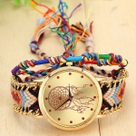 177 Ethnic Style Hand-woven Multi-color Belt Watch(6th color dream catcher (with hand strap))