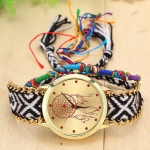 177 Ethnic Style Hand-woven Multi-color Belt Watch(10th color dream catcher (with a hand strap))