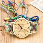 177 Ethnic Style Hand-woven Multi-color Belt Watch(No. 3 color dream catcher (with hand strap))