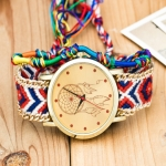 177 Ethnic Style Hand-woven Multi-color Belt Watch(8th color dream catcher (with hand strap))