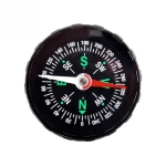 10 PCS Portable Mini Precise Compass Practical Guider for Camping Hiking North Navigation Survival Button Design Compass(Black)