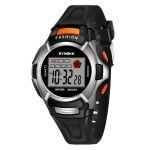 SYNOKE 99329 Waterproof Luminous Sports Electronic Watch for Children(Black)