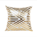 Home Sofa Car Bronzed Pillow Cover with Geometric Pattern Cushion Cover(Geometry – 1)