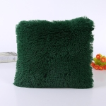 Candy Color Plush Sofa Waist Pillow Cushion Case for Home Decor, Specification:42cmx42cm(Army Green)