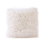 Candy Color Plush Sofa Waist Pillow Cushion Case for Home Decor, Specification:42cmx42cm(Beige)