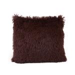 Candy Color Plush Sofa Waist Pillow Cushion Case for Home Decor, Specification:42cmx42cm(Coffee)