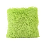Candy Color Plush Sofa Waist Pillow Cushion Case for Home Decor, Specification:42cmx42cm(Green)