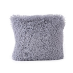 Candy Color Plush Sofa Waist Pillow Cushion Case for Home Decor, Specification:42cmx42cm(Gray)