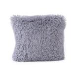 Candy Color Plush Sofa Waist Pillow Cushion Case for Home Decor, Specification:42cmx42cm(Gray)