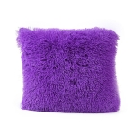 Candy Color Plush Sofa Waist Pillow Cushion Case for Home Decor, Specification:42cmx42cm(Purple)